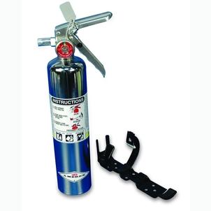 CHROME FIRE EXTINGUISHERS & BRACKETS