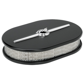 Oval Streamline Air Cleaner - Black