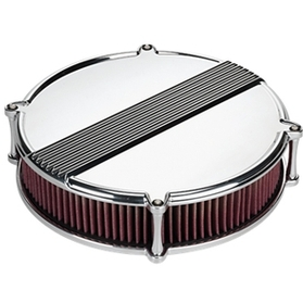 "14"" Round Profile Ribbed Air Cleaner"