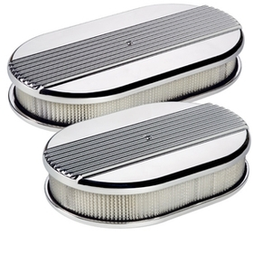 Oval Ribbed Air Cleaner