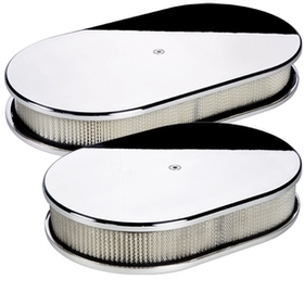 Oval Smooth Polished Air Cleaner