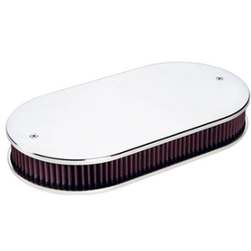 Dual Quad Smooth Polished Air Cleaner