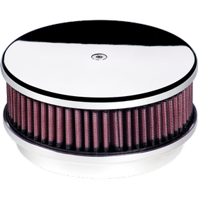 "6-3/8"" Round Smooth Polished Air Cleaner"