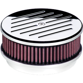 "6-3/8"" Round Ball Milled Air Cleaner"